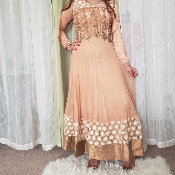 Dresses Nude Fancy Indian Wedding Dress Poshmark